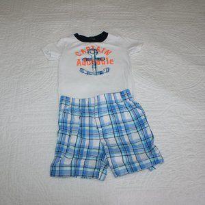 3/$20 Baby boy nautical bodysuit & shorts 9 months